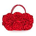 olcso Válltáskák-Női Táskák Szatén Patent Virágszirmok / Rátétek / Szatén virág Arcpír rózsaszín / Mandula / Fukszia / Rojt