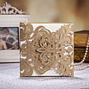 olcso Köszönetajándékok üvegekhez-Oldalra nyíló Esküvői Meghívók 50-Meghívók Köszönő kártyák Meghívó mintadarab Eljegyzési meghívók Művészeti stílus Dombornyomású papír
