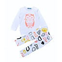 ieftine Pantaloni Băieți-Bebelus Băieți Print Animal Casul / Zilnic Geometic Manșon Lung Bumbac Set Îmbrăcăminte / Copil