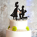 cheap Cake Toppers-Cake Topper Classic Couple Plastic with 1 PVC Bag