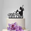 זול מתנות לחתונה-קישוטים לעוגה נושא קלאסי / חתונה זוג קלסי פלסטי חתונה / יוֹם הַשָׁנָה עם 1 pcs תיק פולי