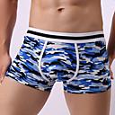 baratos Roupas Íntimas e Meias Masculinas-Homens Cueca Boxer - Estampado, camuflagem 1 Peça Cintura Média