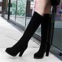 cheap Women's Boots-Women's Shoes Nubuck leather / PU(Polyurethane) Fall / Winter Comfort Boots Black