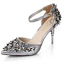 cheap Hair Care-Women's Shoes PU(Polyurethane) Summer Basic Pump Heels Stiletto Heel Pointed Toe Flower Gold / Black / Silver / Dress