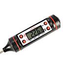 """baratos Termômetros-0.9 """"lcd termômetro de carne de peru alimentos churrasco restauração cozinha sonda cozinhar digitais quente (-50 ~ 300'c / 1 * LR44)"""
