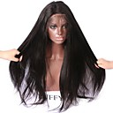 cheap Human Hair Wigs-Human Hair Lace Front Wig Straight / Yaki Wig 150% Natural Hairline / African American Wig / 100% Hand Tied Women's Short / Medium Length / Long Human Hair Lace Wig / Water Wave