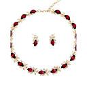 ieftine Bijuterii de Păr-Pentru femei Set bijuterii - Placat Auriu Modă Include Lănțișor Rosu Pentru Nuntă / Petrecere / Logodnă / Cadou