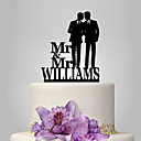 cheap Cake Toppers-Cake Topper Classic Theme / People / Wedding Same Sex Plastic Wedding with 1 pcs Poly Bag