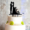 cheap Girls' Dresses-Cake Topper Classic Couple Plastic with 1 PVC Bag