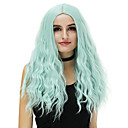 cheap Synthetic Wigs-Synthetic Wig Loose Wave Synthetic Hair Blue / Blonde / Pink Wig Women's Long Capless