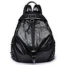 cheap Backpacks-Women's Bags PU(Polyurethane) Backpack Zipper Black / Red