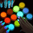 cheap Rhinestone & Decorations-1pc Acrylic Powder / Powder / Nail Glitter Sparkle & Shine / Luminous Nail Art Design