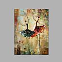 billige Abstrakte Malerier-Hang-Painted Oliemaleri Hånd malede - Abstrakt Kunstnerisk Lærred