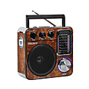cheap Music Boxes-FM / AM Portable Radio MP3 Player / FlashLight TF Card World Receiver Black / Brown