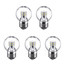 cheap LED Spot Lights-5pcs 3W 250lm E27 LED Globe Bulbs G45 24 LED Beads SMD 2835 Warm White Cold White 220V