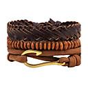 cheap Men's Bracelets-Men's Strand Bracelet / Wrap Bracelet / Leather Bracelet - Leather Personalized, Punk Bracelet Brown For Daily / Stage / Street