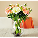 baratos Flor artificiali-Flores artificiais 5 Ramo Moderna / Modern Plantas Flor de Mesa