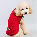 preiswerte Hundekleidung-Hund Pullover Hundekleidung Solide Rot / Blau Baumwolle Kostüm Für Haustiere Herrn / Damen Lässig / Alltäglich