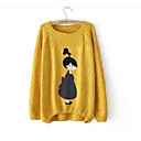 cheap Smartwatches-Women's Going out Long Sleeve Wool Pullover Print / Fall