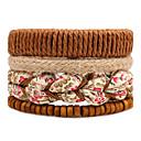 cheap Men's Bracelets-Men's Women's Strand Bracelet Wrap Bracelet - Flower Bohemian, Fashion Bracelet Brown For Casual Stage Date