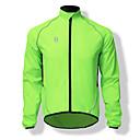 baratos Collants,Shorts,Calças e Calções de Ciclismo-SPAKCT Homens Jaqueta para Ciclismo Moto Blusas A Prova de Vento Sólido Verde Ciclismo de Montanha Assenta Relaxadamente Roupa de Ciclismo / Tinta Importada Itália