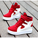 voordelige Damessneakers-Dames Schoenen Leer / Varkensleer Herfst / Winter Comfortabel Sneakers Rood / Wit / Zwart / Rood / Wit / zilver