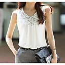preiswerte Damen Sportschuhe-Damen Solide Bluse