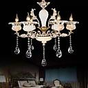 baratos Luminárias de Teto-QINGMING® 6-luz Lustres Luz Superior - Cristal, Estilo Mini, 110-120V / 220-240V Lâmpada Não Incluída / 10-15㎡ / E12 / E14