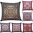 preiswerte Kissen Sets-6 Stück Leinen Baumwolle/Leinen Kissenbezug, Texture Strand Design Stützen Traditionell-Klassisch