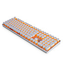 cheap Keyboard Accessories-AJAZZ AK33PUNK Wired Monochromatic Backlit Blue Switches 108 Mechanical Keyboard Backlit