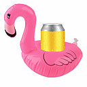 cheap Drinkware Accessories-Inflatable Coasters Flamingos Aquatic Float Drink Cup Holder Tray Pool Party Supplies