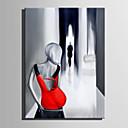 baratos Pinturas Pessoas-Pintura a Óleo Pintados à mão - Pessoas Abstracto Tela de pintura