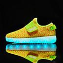baratos Sapatos de Menino-Para Meninos Sapatos Tricô / Malha Respirável Primavera Conforto / Solados com Luzes / Tênis com LED Tênis Velcro / LED para Verde / Rosa claro / Azul Real