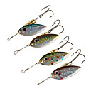cheap Fishing Lures & Flies-4 pcs Spoons Buzzbait & Spinnerbait Metalic Copper Bait Casting Spinning Jigging Fishing Freshwater Fishing Other General Fishing Lure