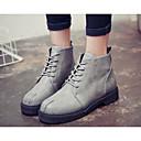 hesapli Kadın Botları-Kadın's Ayakkabı Tüylü / PU Sonbahar / Kış Rahat / Moda Botlar Çizmeler için Gri / Kahverengi / Kırmzı