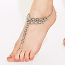 cheap Anklet-Anklet Barefoot Sandals - Gold Plated Unique Design, Vintage, Bohemian Silver For Christmas Gifts / Daily / Casual / Women's