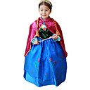 cheap Movie & TV Theme Costumes-Princess Fairytale Anna Cosplay Costume Party Costume Kid's Christmas Halloween Children's Day Festival / Holiday Halloween Costumes Blue