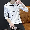 tanie Modne pierścionki-T-shirt Męskie Okrągły dekolt Geometric Shape / Długi rękaw