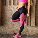 baratos Camisas Para Ciclismo-Mulheres Cordão Bordado Legging - Retalhos, Buraco Cintura Alta