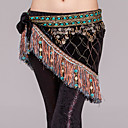cheap Dance Accessories-Belly Dance Hip Scarves Women's Performance Polyester Metal Imitation Pearl Paillette Chain Hip Scarf