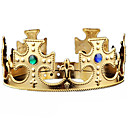 cheap Birthday Home Decorations-Halloween Christmas Birthday King Crown Mounted Gem Jewel Head Gear Cosplay Carnaval Masquerade Party