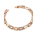 cheap Necklaces-Women's AAA Cubic Zirconia Chain Bracelet - Gold Plated Bohemian, Fashion Bracelet Gold For Party / Gift