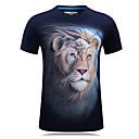 Χαμηλού Κόστους Κρεμαστά Φωτιστικά-Ανδρικά Μεγάλα Μεγέθη T-shirt Αθλητικά Ενεργό - Βαμβάκι Στρογγυλή Λαιμόκοψη Στάμπα / Κοντομάνικο