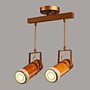 ieftine Accesorii pentru vin-2-Light spot luminos Lumini Ambientale Pictate finisaje Metal Lemn / bambus designeri 220-240V Bec Inclus / GU10