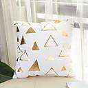 preiswerte Dekorative Kissen-1 Stück Baumwolle Kissenbezug, Geometrische Muster Print Geometrisch Mit Mustern Modisch