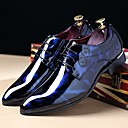 cheap Men's Oxfords-Men's Printed Oxfords Patent Leather Fall / Winter Comfort Oxfords Black / Royal Blue / Burgundy / Party & Evening