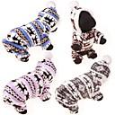 hesapli Smartwatch Bantları-Köpek Kazaklar Kapüşonlu Giyecekler Tulumlar Köpek Giyimi Ren Geyiği Kahve Mavi Pembe Pamuk Kostüm Uyumluluk İlkbahar & Kış Kış Günlük / Sade