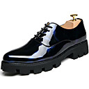 cheap Men's Oxfords-Men's Formal Shoes Patent Leather Fall / Winter Oxfords Black / Party & Evening / Printed Oxfords