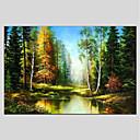 baratos Pinturas Paisagens-Pintados à mão Paisagem Panorâmico horizontal Tela de pintura Pintura a Óleo Decoração para casa 1 Painel