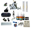 cheap Starter Tattoo Kits-BaseKey Tattoo Machine Starter Kit - 1 pcs Tattoo Machines with 1 x 5 ml tattoo inks, Professional LCD power supply Case Not Included 1